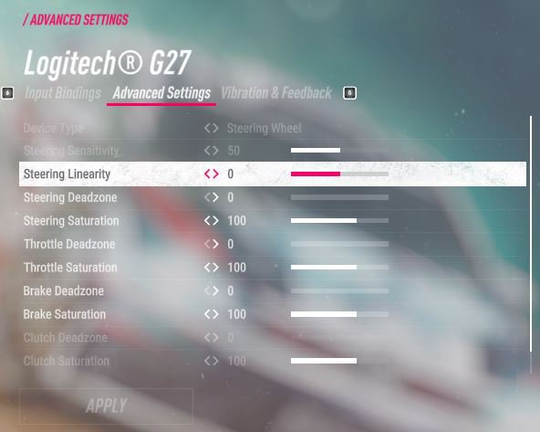 Dirt Rally 2 - Logitech G27 Force Feedback settings