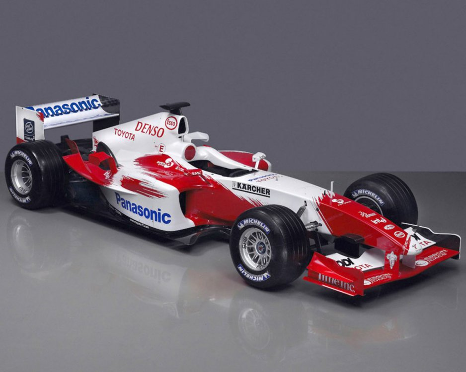 Toyota F1 is a Formula One team run by Japanese car manufacturer, Toyota.jpg