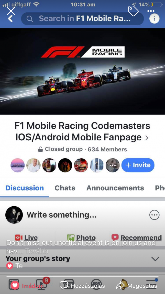 F1 Mobil Racing Group for improvments and helps for all players