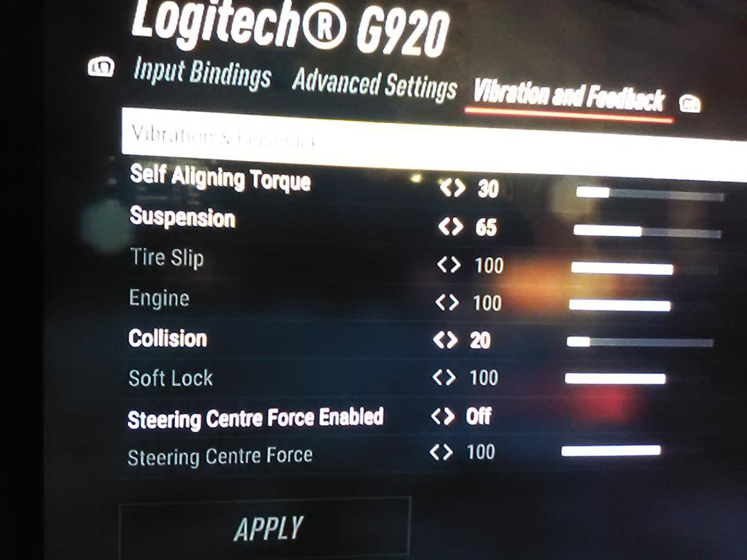 Logitech G920 lacking FFB settings on Xbox - Technical Assistance