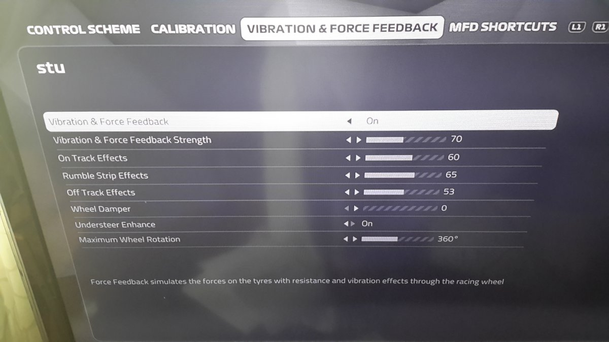 F1 2019 FFB settings? Share - General Discussion