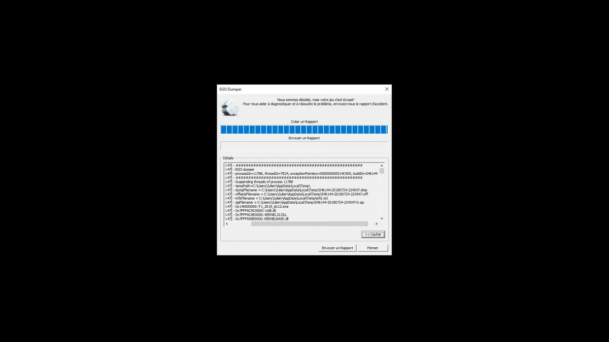 Patch 1 06 game crash in DX12 mode - Technical Assistance