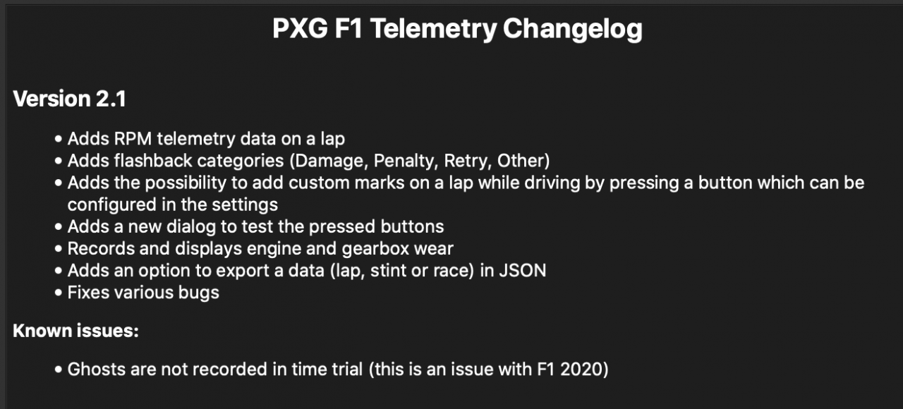 PXG F1 Telemetry 2.1 Changelog.png