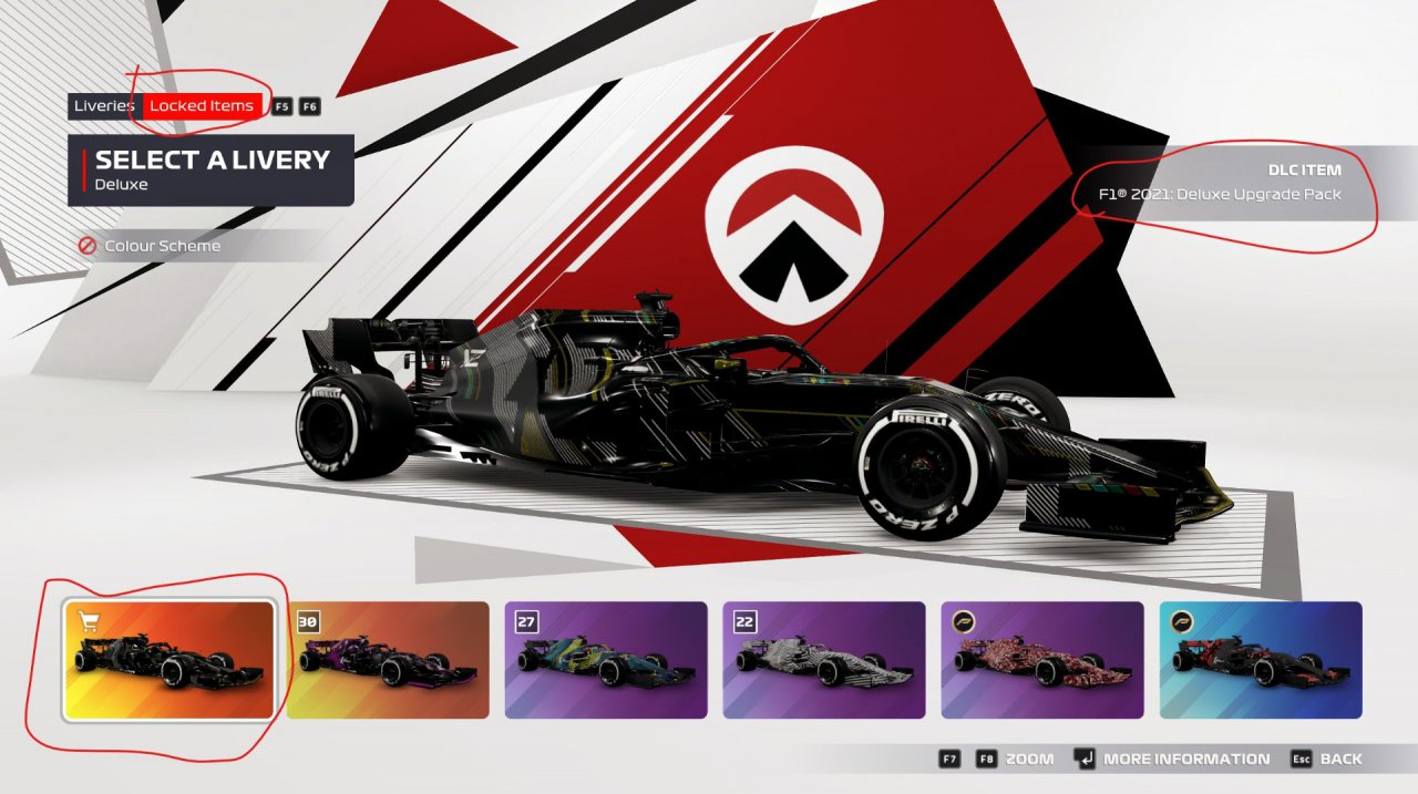 F1 2021 - Deluxe Upgrade Pack items unavailable.jpg